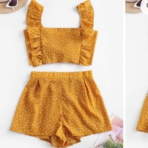 ZAFUL Mustard Yellow Two Piece Set Sz M🌻